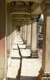 Piliers dans le temple Cambodge d'Angkor Vat Image libre de droits