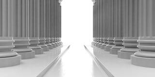 piliers de marbre du rendu 3d avec des étapes Images stock