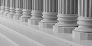 piliers de marbre du rendu 3d avec des étapes Photo stock