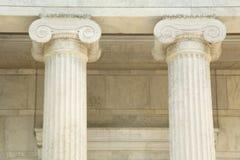 Piliers de marbre iconiques Photographie stock libre de droits