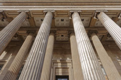 Piliers de musée britannique Images libres de droits