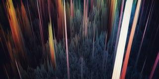 Piliers de paysage de création illustration de vecteur