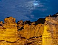 Piliers de Solomon la nuit Image libre de droits
