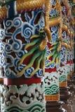 Piliers de temple bouddhiste Image libre de droits