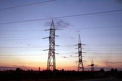 Piliers électriques Photo stock