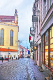 Pilies Street in the Old Town of Vilnius in Lithuania Stock Photography