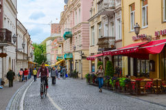 Pilies Street in Vilnius Old Town Royalty Free Stock Photography
