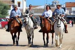 Piligrims auf Pferdel Rocio Lizenzfreies Stockfoto