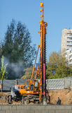 Piling machine Stock Image