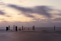 Piling Silhouettes Stock Images