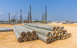 Piling work Stock Photos