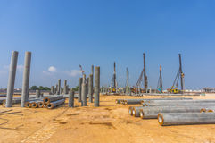 Piling work Stock Image