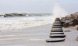 Pilings on the Beach Royalty Free Stock Image