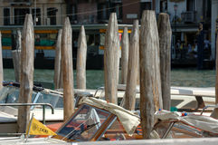 Pilings in Venice. Frugality Royalty Free Stock Image