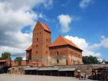 Pilis van Traku van het Trakaikasteel in Litouwen dichtbij Vilnius Stock Afbeeldingen