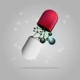 pill royaltyfri illustrationer