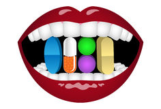 Pill Addiction Royalty Free Stock Photography