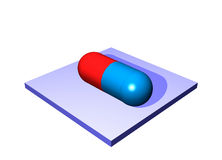 Pill Antibiotics - Medical Icons Isolated Royalty Free Stock Image