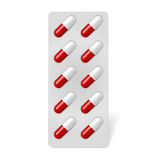 Pill blister Royalty Free Stock Image