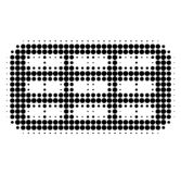 Pill Blister Halftone Dotted Icon stock illustration