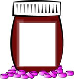 Pill bottle Stock Image