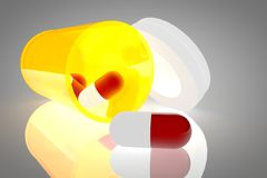 Pill bottle 3d royalty free stock image