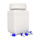 Pill Bottle isolated on white Royalty Free Stock Image
