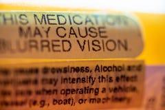 Pill bottle warnings royalty free stock photos