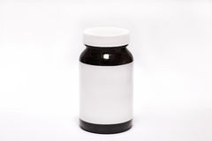 Pill bottle on white background Stock Photography