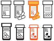 Pill Bottles Royalty Free Stock Photography