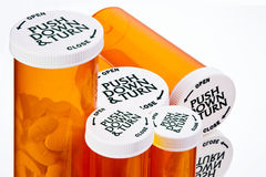 Free Pill Bottles Royalty Free Stock Photography - 7614507