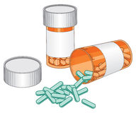 Pill Bottles-Prescription Drug Stock Photos