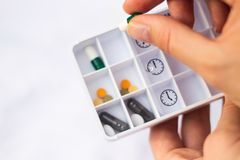 Daily pill box royalty free stock images