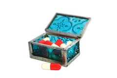 Pill Box Royalty Free Stock Photos