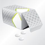 Pill box design Stock Photo