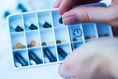 Daily pill box royalty free stock image