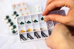 Daily pill box royalty free stock photo