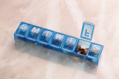 Daily Pill and capsule Organizer Royalty Free Stock Photos