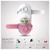 Pill Capsule Woman Beauty And Fashion Lifestyle Infographic Stock Photography