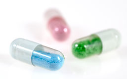 Pill capsules with toxic content Royalty Free Stock Photography