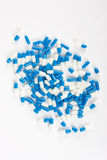 Pill capsules on white Royalty Free Stock Photo