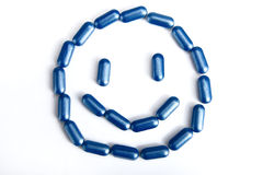 The pill constitute a smile face Royalty Free Stock Photo