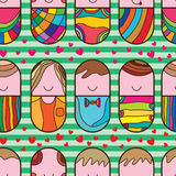 Pill cute love seamless pattern Stock Photos