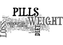 A Pill A Day Approach To Weight Loss Word Cloud. A PILL A DAY APPROACH TO WEIGHT LOSS TEXT WORD CLOUD CONCEPT Stock Photography