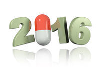 Pill 2016 design Stock Photography