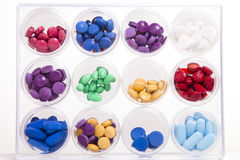 Pill Display Royalty Free Stock Photography