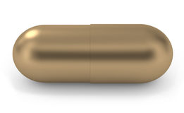 Pill gold Stock Images