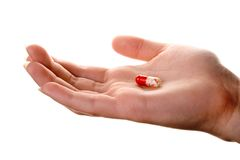 Pill in the hand Royalty Free Stock Photography