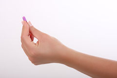Pill in the hand Stock Photo