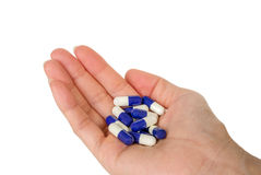 Pill in hand Royalty Free Stock Photo